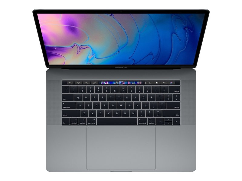 """Apple MacBook Pro with Touch Bar-15.4""""-Core i7 2.6 GHz-16 GB RAM-512 GB SSD-MR942DK/A"""
